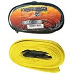 Heavy Duty Emergency Tow Strap 2″ x 20 FT 10,000LB Towing Rope w/ 2 Steel Hooks includes free bag