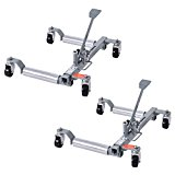 Goplus Set of 2 Vehicle Positioning Car 10″ Wheel Dolly Moving Tire, 1250 Lb Capacity