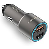 Car Charger, Mercase 30W Quick Charge 3.0 Dual USB Car Charger for Samsung Galaxy S7/S6/Edge/Plus, Note 5/4 LG, iPhone X/8/7/6s /Plus, iPad Pro/ Air 2/mini,Nexus, HTC and More (Space Grey)
