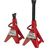Strongway Double-Locking Jack Stands – Pair, 6-Ton Capacity, 15 5/16in.-23 13/16in. Lift Range
