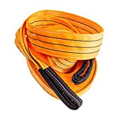 Extra Heavy Duty Tow Strap 35,000lbs (17.5 US TONS) 30′ x 3.5″, Super Strong Dual Webbing, Reinforced Connection Loops. Premium Tow Rope Alternative for Tough, Mud, Snow and Sand, Vehicle Recovery