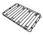 Smittybilt 50955HD Defender Roof Rack 5 ft. x 9.5 ft. x 4 in. Bolt Together Incl. HD Clamps/Brackets Defender Roof Rack