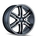 DIP Hack D98 Matte Black Wheel with Machined Face/Ring (20×8.5″/6x135mm)