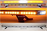 60″ Amber Clear Super Bright LED Light Bar Flashing Warning Tow Truck Wrecker Police Snow Plow with BRAKE AND CARGO LIGHTS