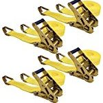 Keeper 04629 25′ x 2″ Ratchet Tie-Down with J-Hooks, 4 Pack