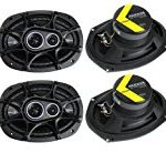 4) New Kicker 41DSC6934 D-Series 6×9″ 720 Watt 3-Way Car Audio Coaxial Speakers