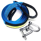 LIVEHITOP Recovery Strap, 5m 8ton / 16.5ft 17000Lb Tow Strap Winch Rope For Road Recovery.