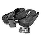 NEH Quick Release Straps 16 Foot Length – Set of 2 – Soft Nylon Straps are perfect for securing Motorcycles, Cruisers, Sport Bikes, Dirt Bikes, Scooters, ATV, Jet Skis, and Boats