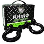 "Rhino USA D Ring Shackle (2 Pack) 41,850lb Break Strength – 3/4"" Shackles For use With Tow Strap, Winch & Bubba Rope, Off Road Jeep Truck Vehicle Recovery, Best Offroad Towing Accessories for ATV UTV"