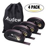 AUDEW Ratchet Tie Down Straps 4 Pack Ratchet Straps 20 FT-1500Lb Break Strength Cargo Straps , Heavy Duty Lashing Straps
