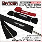 Ranger Chafe Guard Protective Sleeve For up to 1″ Dyneema Synthetic Winch Rope (Including Sleeve Tube, and Removable Hook and Loop Tube) by Ultranger