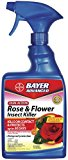 Bayer Advanced 502570 Dual Action Rose and Flower Insect Killer Ready-To-Use, 24-Ounce