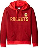 VF LSG Right Intentions Program NBA Men's Long Sleeve Pullover Hood, Medium, Authentic Red Heather-Athletic Red-Yellow Gold