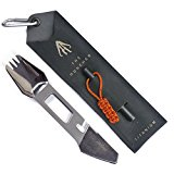 THE MUNCHER Titanium Multi Utensil by FULL WINDSOR - 10 Function Lightweight Multi Purpose Tool includes Spork, Knife, Fire Starter, Bottle Opener.... Multitool for Camping, Travel, Backpacking gear.